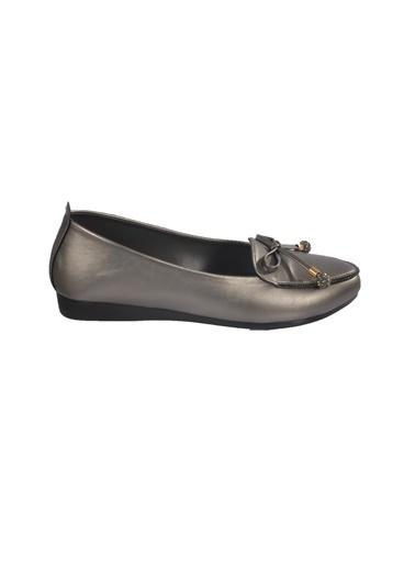 Mhd 423 Platin Kadın Günlük Ayakkabı Gümüş